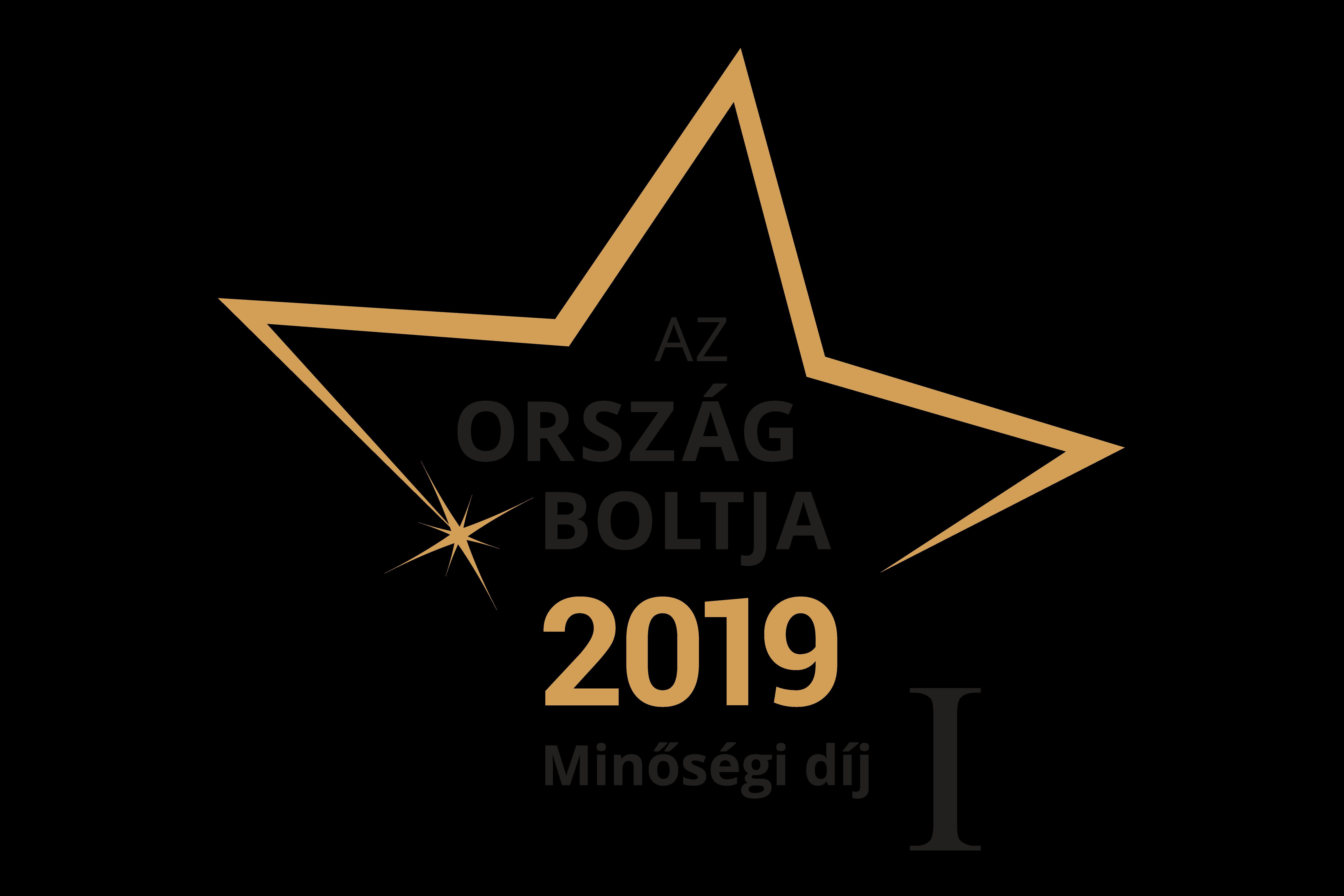 Ország Boltja 2018 Minőségi díj Sport és fitnesz kategória I. Helyezett