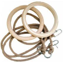 Fa felnőtt gyűrű 1,7 m hosszú kötéllel S-SPORT