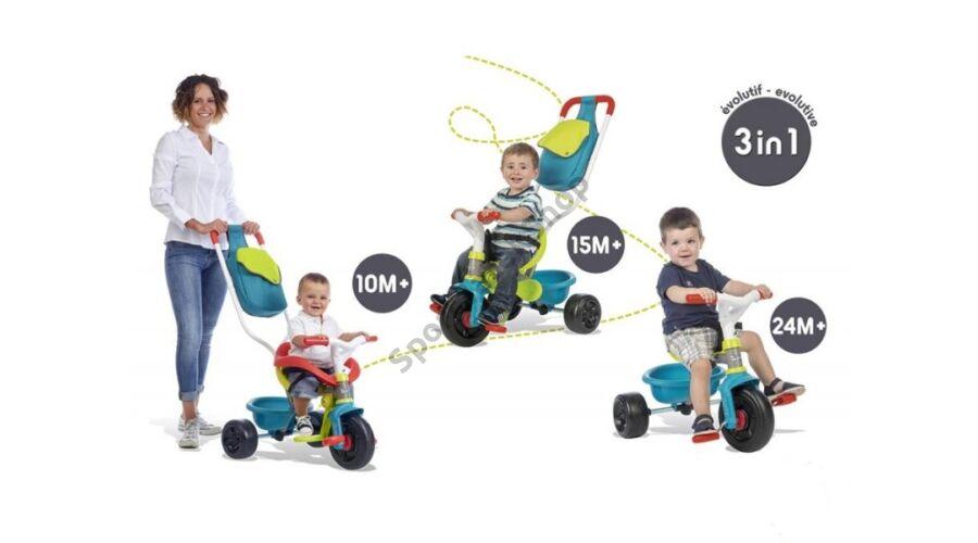 Tricikli kék SMOBY BE MOVE CONFORT (Járgányok 64c69abe56